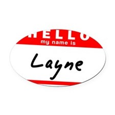 Layne Oval Car Magnet