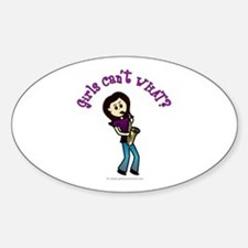 Light Saxophone Player Oval Decal