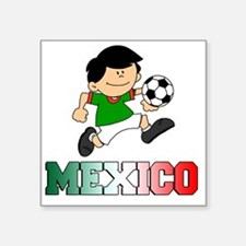 "Mexican Soccer Football Square Sticker 3"" x 3"""