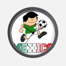 Mexican Soccer Football Wall Clock