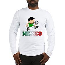 Mexican Soccer Football Long Sleeve T-Shirt