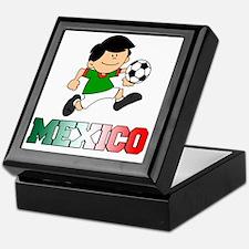 Mexican Soccer Football Keepsake Box