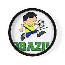 Brazil Soccer Football Wall Clock