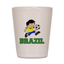 Brazil Soccer Football Shot Glass