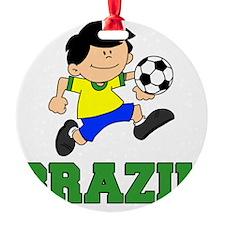Brazil Soccer Football Ornament