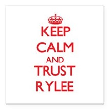 "Keep Calm and TRUST Rylee Square Car Magnet 3"" x 3"
