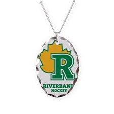 Riverbank Leaf Logo Necklace Oval Charm
