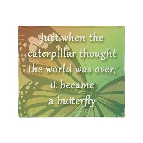 11.5sq_bev_butterfly Throw Blanket