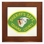 Tehama County Sheriff Framed Tile