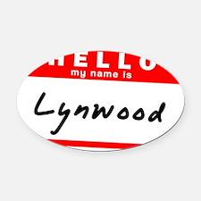 Lynwood Oval Car Magnet