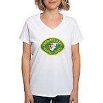 Tehama County Sheriff Women's V-Neck T-Shirt