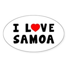 I Love Samoa Decal