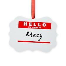 Macy Ornament