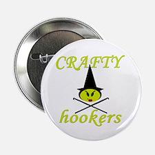 crafty hooker crochet witch Button