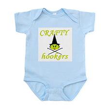 crafty hooker crochet witch Infant Bodysuit