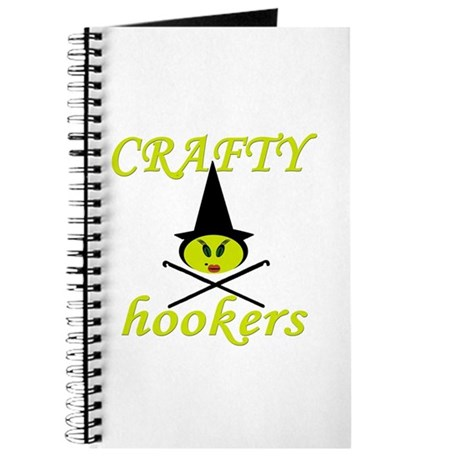 crafty hooker crochet witch Journal