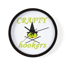 crafty hooker crochet witch Wall Clock