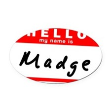Madge Oval Car Magnet