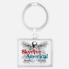 Skydive America! Landscape Keychain