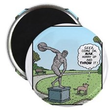 Dog Discus thrower Magnet