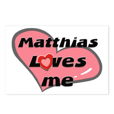 matthias loves me Postcards (Package of 8)