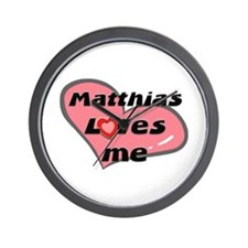 matthias loves me  Wall Clock