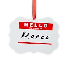 Marco Ornament