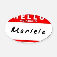 Mariela Oval Car Magnet