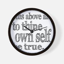 self be true Wall Clock