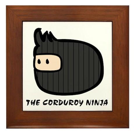 Corduroy Ninja Framed Tile