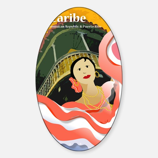 CaribeCard Sticker (Oval)