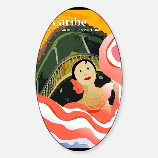 CaribePoster-23x35 Sticker (Oval)