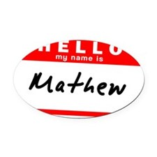 Mathew Oval Car Magnet