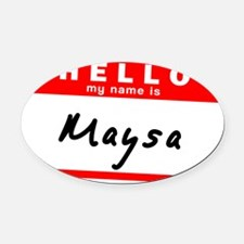 Maysa Oval Car Magnet
