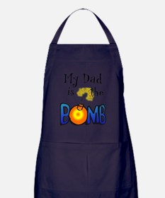 My Dad Is The BOMB-for white Apron (dark)