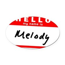 Melody Oval Car Magnet
