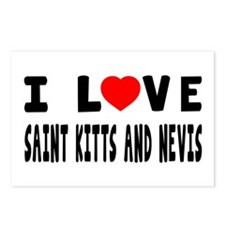 I Love Saint Kitts And Nevis Postcards (Package of