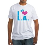 I Love (Heart) L.A. Fitted T-Shirt