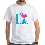 I Love (Heart) L.A. White T-Shirt
