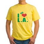I Love (Heart) L.A. Yellow T-Shirt
