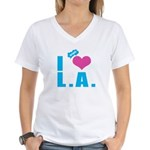 I Love (Heart) L.A. Women's V-Neck T-Shirt