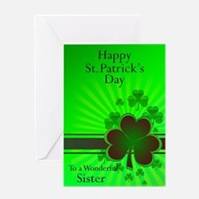 Happy St Patricks day card for your sister Greetin