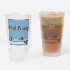 retired principal blanket blue brow Drinking Glass