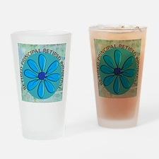 RETIRED PRINCIPAL BLANKET Drinking Glass