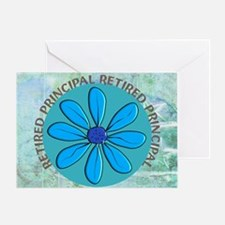RETIRED PRINCIPAL BLANKET Greeting Card