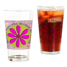 RETIRED PRINCIPAL BLANKET PINK Drinking Glass