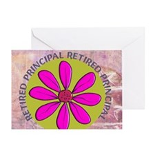 RETIRED PRINCIPAL BLANKET PINK Greeting Card