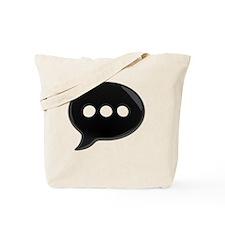 BlackWordBubbleTshirt Tote Bag