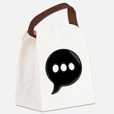 BlackWordBubbleTshirt Canvas Lunch Bag