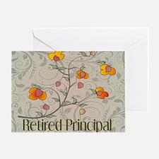 Retired Principal blanket VINES Greeting Card
